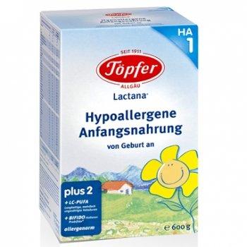 Topfer  Бебешко хипоалергенно адаптирано мляко Лактана БИО /НА/ 10м+ 600 гр.